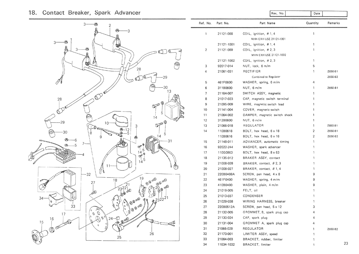 kz650.info - b1 parts diagram 1982 kz650 wiring diagram kz650 parts diagram #1