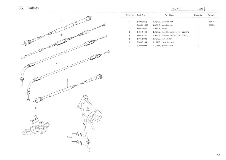 Kz650 Clutch Diagram Wiring Diagrams Speedo Cable Info B1 Parts 1977