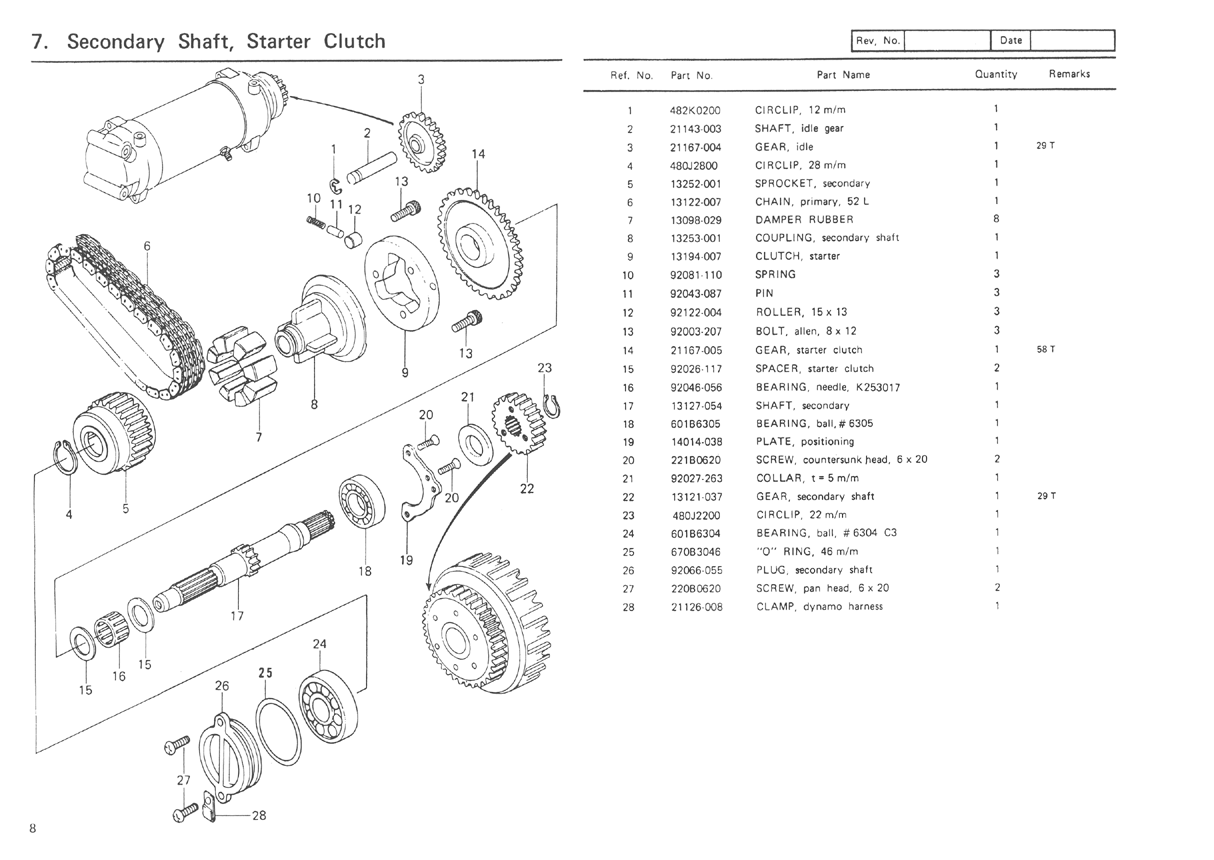 kawasaki kz1000 parts diagram